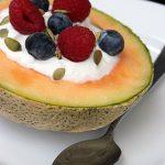 Taça de Meloa com Iogurte