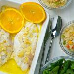 Redfish no forno com laranja