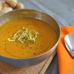Sopa fria de cenoura e gengibre