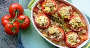 Receitas Saudáveis - Tomates recheados com cogumelos