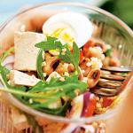 Salada de feijão frade com tofu