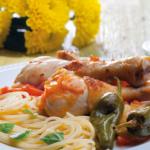 Perninhas de Frango com Tomate e Manjericão