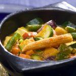 Caril de tofu e legumes com bulgur