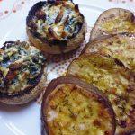 Receita Vegan de Cogumelos com espinafres