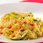 Caril de legumes com couscous