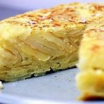 Tortilha de batata e cebola