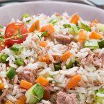 Arroz de Atum com legumes