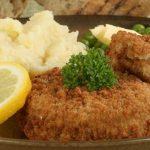 Hambúrguer de bacalhau com crosta de broa