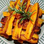 Palitos de cenouras no forno
