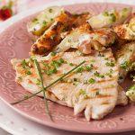 Bifes de peru grelhados com vinagre balsâmico