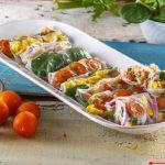 Wraps de verão de atum, milho e tomate