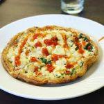 Pizza de claras e ovo