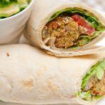 Wrap de Falafel vegetariano